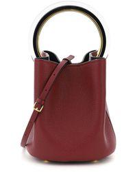 Marni Logo Top Handle Tote Bag - Red