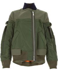 Sacai Layered Bomber Jacket - Green