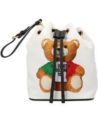 Moschino Teddy Bucket Bag - White
