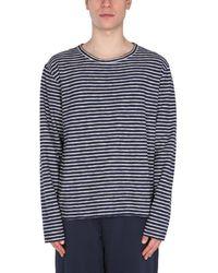 "YMC ""x"" Striped Sweatshirt - Blue"
