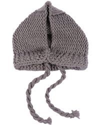 JW Anderson Knitted Hood - Grey