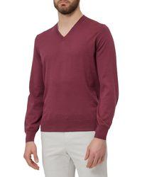 Brunello Cucinelli V-neck Sweater - Red