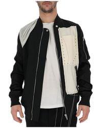 Rick Owens Stitch Detail Bomber Jacket - Black