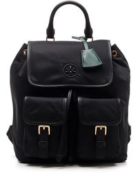 Tory Burch Perry Flap Backpack - Black