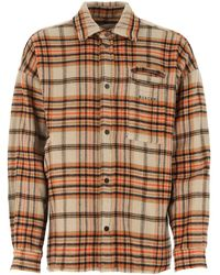 Buscemi Chequered Button-up Fringed Shirt - Brown