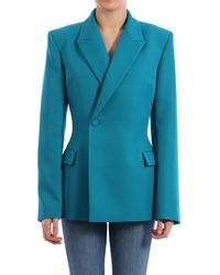Balenciaga Waisted Technical-twill Blazer - Blue