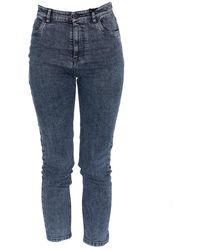 Miu Miu Cropped Skinny Jeans - Blue
