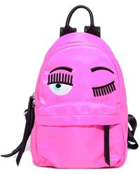 Chiara Ferragni Embroidered Eye Motif Top Handle Backpack - Pink