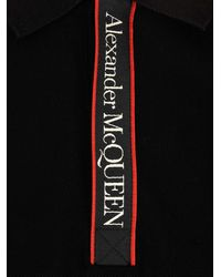 Alexander McQueen Logo Tape Polo Shirt - Black