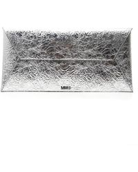 MM6 by Maison Martin Margiela Large Metallic Clutch