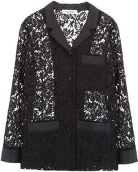 Valentino - Floral Lace Shirt - Lyst