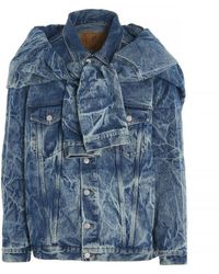 Martine Rose Ferrero Denim Jacket - Blue