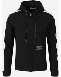 Valentino Vltn Tag Hooded Jacket - Black