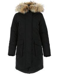 Woolrich - Fur Trim Padded Parka - Lyst