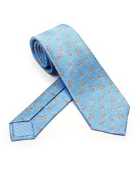 BVLGARI Daddy Cool Pictorial Tie - Blue