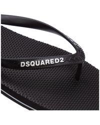 DSquared² Logo Flip Flops - Black