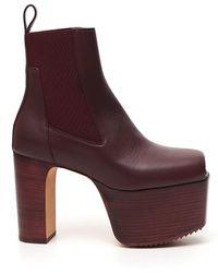Rick Owens - Open-toe Platform Boots - Lyst