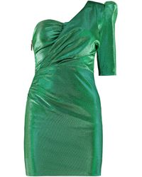 Elisabetta Franchi One-shoulder Mini Dress - Green
