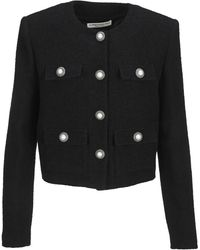 Alessandra Rich - Button-detailed Cropped Tweed Jacket - Lyst