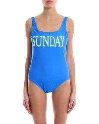 Alberta Ferretti - Rainbow Week Sunday Swimsuit - Lyst