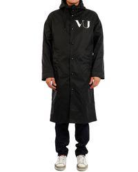 Valentino X Undercover Ufo Printed Raincoat - Black