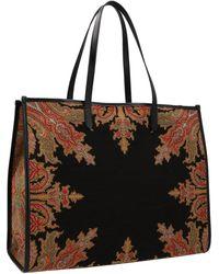 Etro Paisley Printed Jacquard Tote Bag - Multicolour