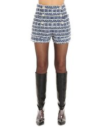 Balmain Tweed Double-breasted Shorts - Blue