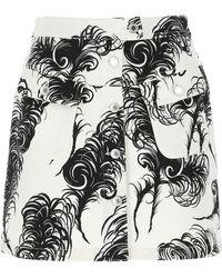 Moschino Feather Print Mini Skirt - Multicolor