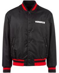 Versace Medusa Head Varsity Jacket - Black