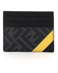 Fendi Ff Stripe Cardholder - Multicolor