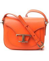 Tod's T Buckle Mini Crossbody Bag - Orange