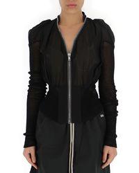 Rick Owens Panelled Zipped Jacket - Black