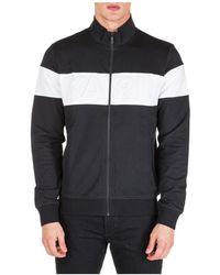 Karl Lagerfeld Two-tone Zipped Sweatshirt - Black