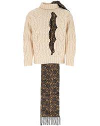 Maison Margiela Sand Wool Jumper Nd Uomo - Natural