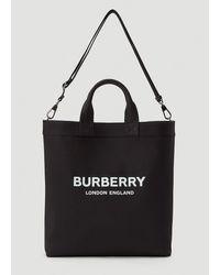 Burberry Artie Logo Tote Bag - Black