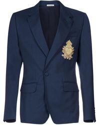 Dolce & Gabbana Logo Patch Portofino Jacket - Blue