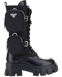 Prada Monolith Boots - Black