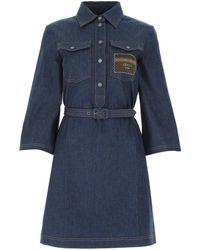 Gucci Boutique Denim Dress - Blue