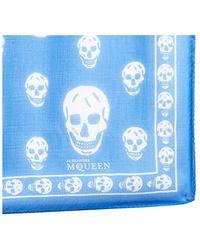 Alexander McQueen - Skull Printed Scarf - Lyst
