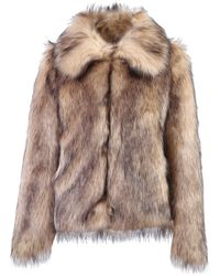 Paco Rabanne Faux-fur Coat - Brown