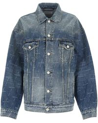 Balenciaga Oversized Denim Jacket - Blue