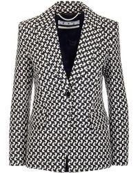 Off-White c/o Virgil Abloh Geometric Print Single-breasted Blazer - Black