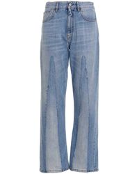 Marni Raw Edge Jeans - Blue