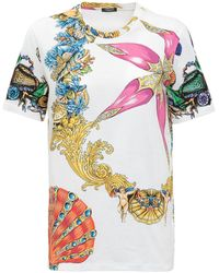 Versace Graphic Printed T-shirt - Multicolour