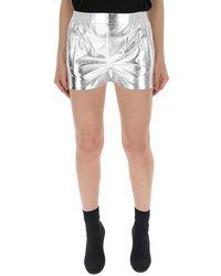 Laneus Fitted Tap Shorts - Metallic