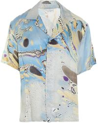 ih nom uh nit Graphic-print Buttoned Shirt - Blue