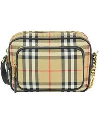 Burberry Vintage Check Zipped Camera Bag - Multicolour
