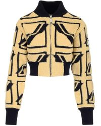 we11done Zip-up Knitted Jacket - Multicolor