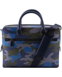 Michael Kors - Harrison Camouflage Briefcase Bag - Lyst