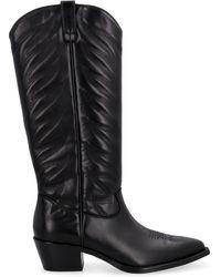 Ash Delirium Knee-high Boots - Black